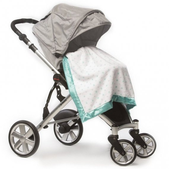 Плед детский в коляску SwaddleDesigns Stroller Blanket SC & Sterling Dot