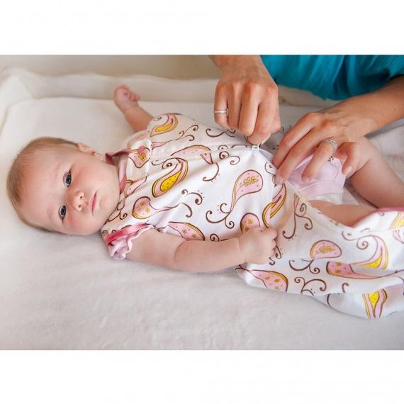 Спальный мешок для новорожденного SwaddleDesigns zzZipMe Sack 6-12M Flannel TB Lt Chickies