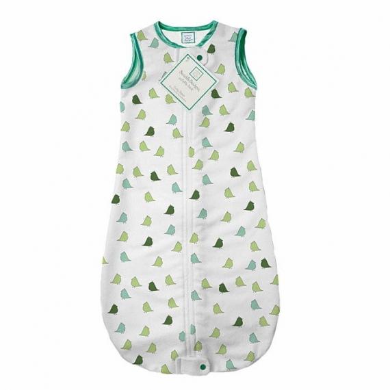 Спальный мешок для новорожденного SwaddleDesigns zzZipMe Sack 6-12M Flannel TQ Lt Chickies