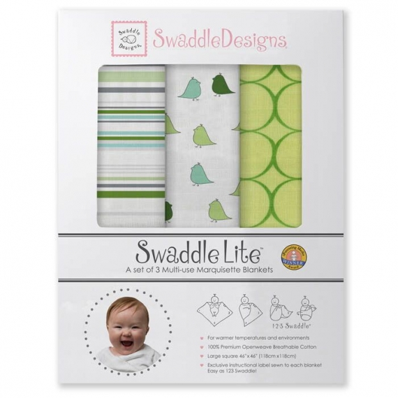 Набор пеленок SwaddleDesigns SwaddleLite Jewel Tone Pure Green