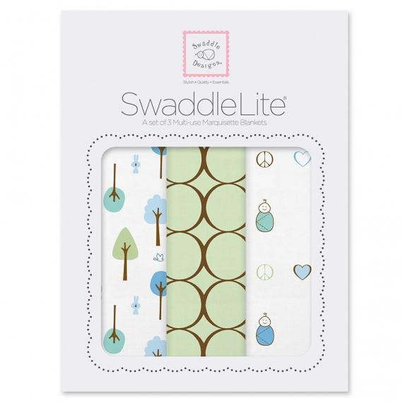 Набор пеленок SwaddleDesigns SwaddleLite Cute & Calm Kiwi