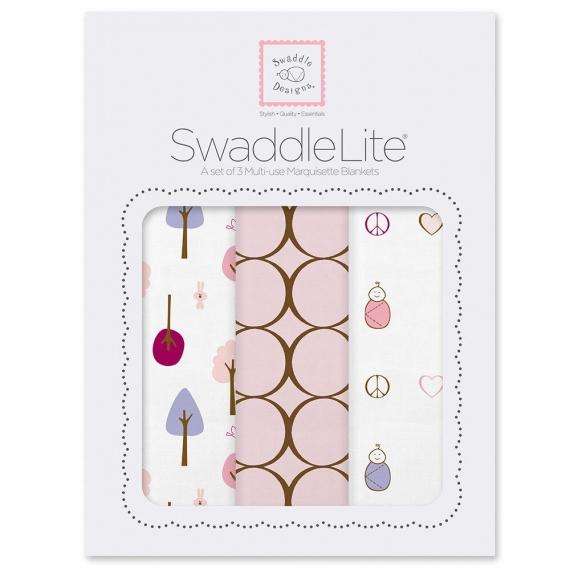 Набор пеленок SwaddleDesigns SwaddleLite Cute & Calm Pastel Pink