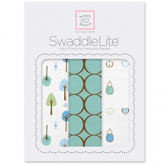 Набор пеленок SwaddleDesigns SwaddleLite Cute & Calm SeaCrystal