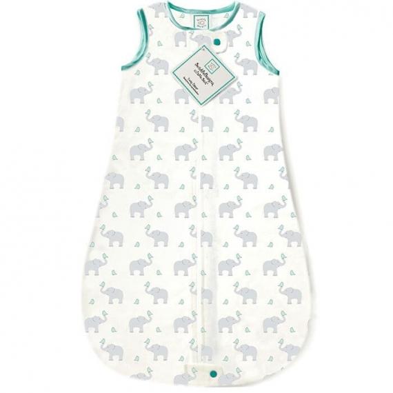 Спальный мешок для новорожденного SwaddleDesigns zzZipMe Sack 3-6M Flannel SC Elephant & Chickies