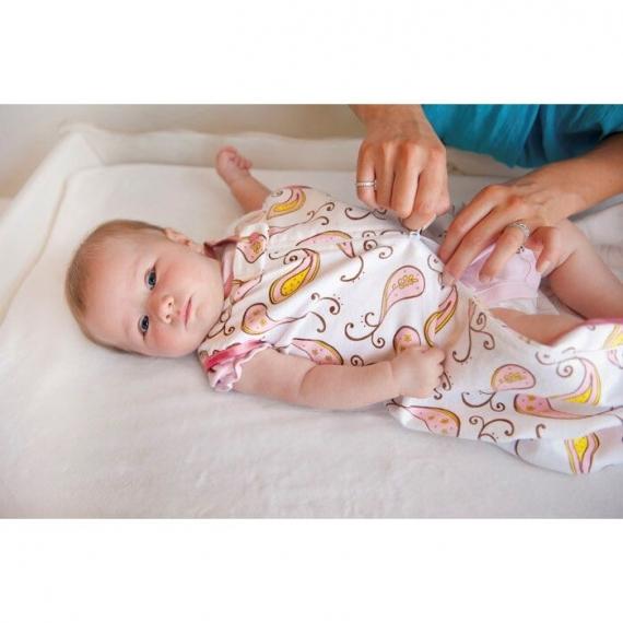 Спальный мешок для новорожденного SwaddleDesigns zzZipMe Sack 6-12M Flannel SC Elephant & Chickies