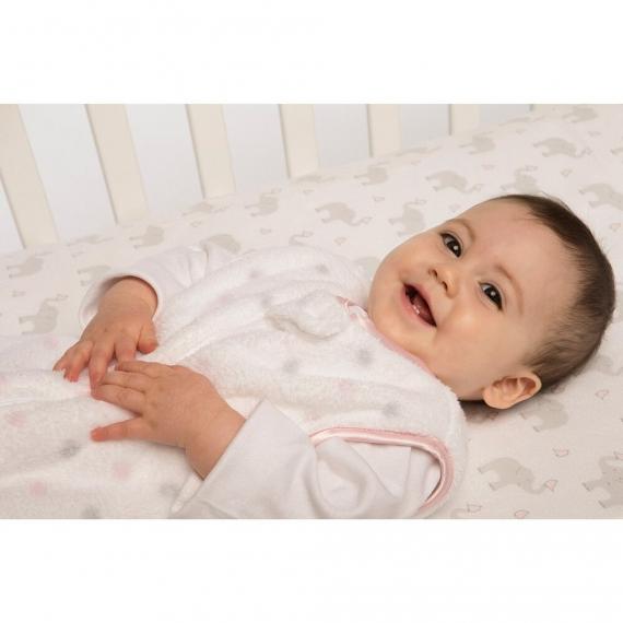 Простынь детская SwaddleDesigns Fitted Crib Sheet PY Elephant & Chickie
