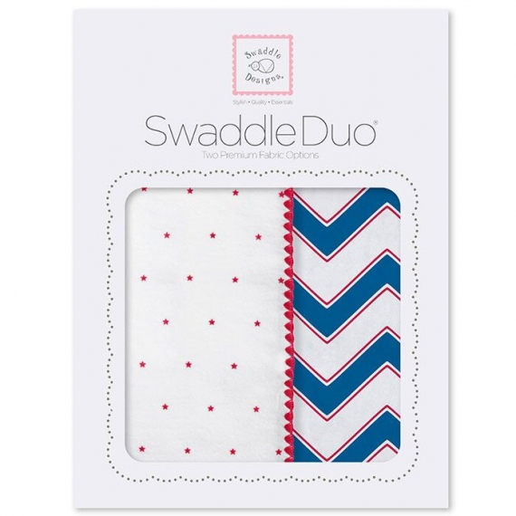 Набор пеленок SwaddleDesigns Swaddle Duo True Red Chevron