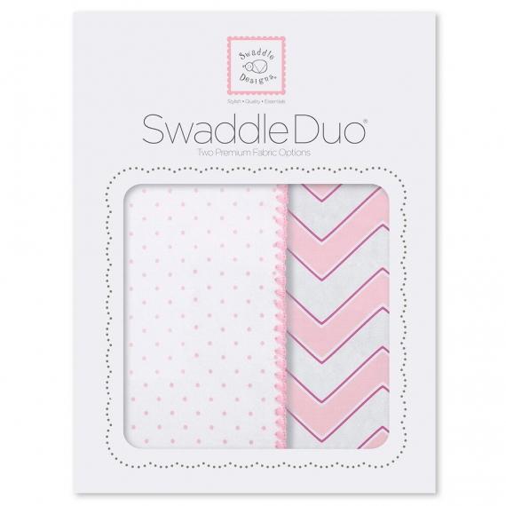 Набор пеленок SwaddleDesigns Swaddle Duo Pink Classic Chevron