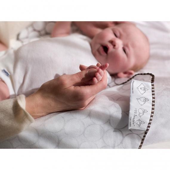 Фланелевая пеленка для новорожденного SwaddleDesigns Blue Big Dot Lt Dot