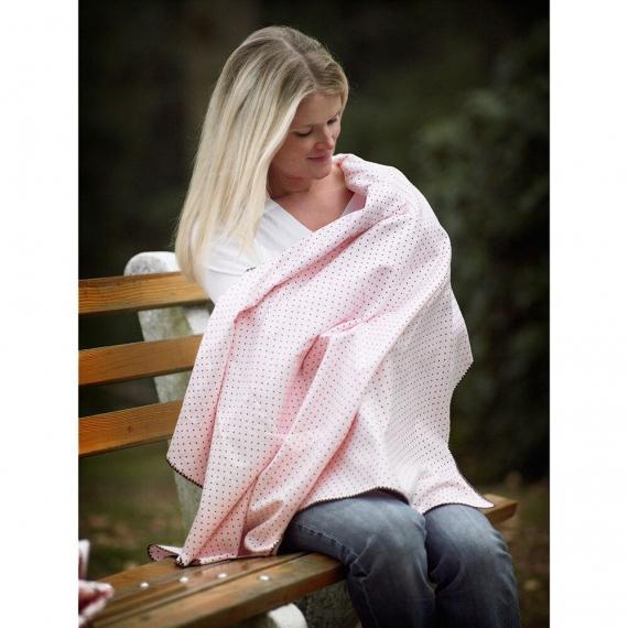 Фланелевая пеленка для новорожденного SwaddleDesigns Gray and Sterling Dots