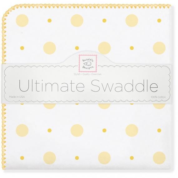 Фланелевая пеленка для новорожденного SwaddleDesigns YW Big Dot Lt Dot