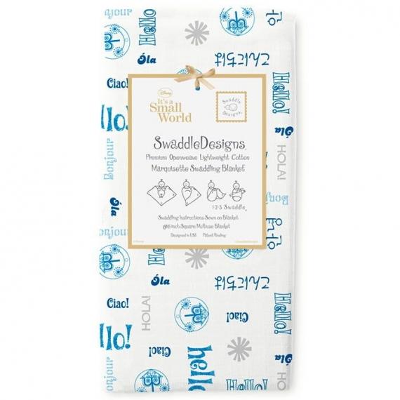 Пеленка детская тонкая SwaddleDesigns Маркизет Blue Hello SM