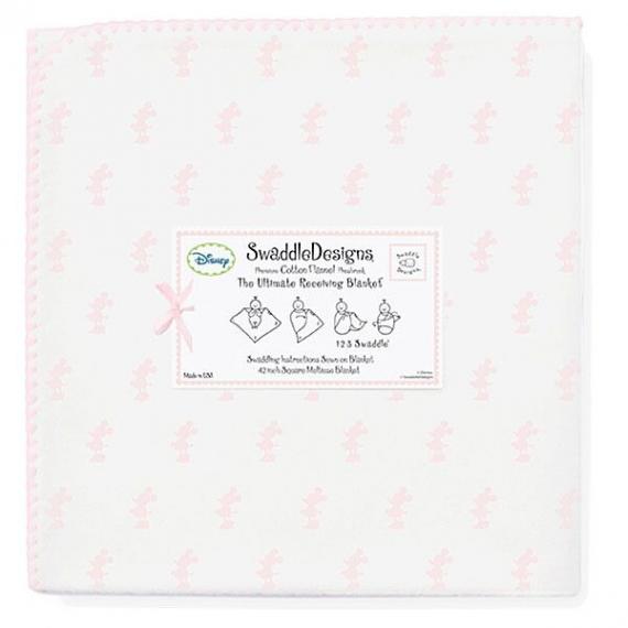 Фланелевая пеленка для новорожденного SwaddleDesigns PP Little Minnie