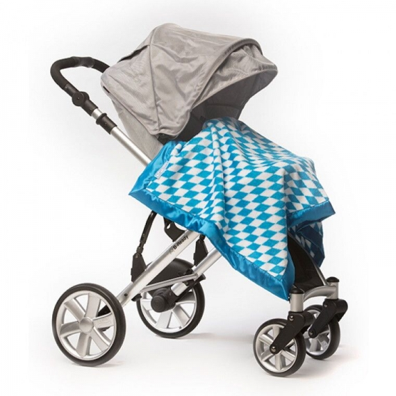 Плед детский SwaddleDesigns Stroller Blanket Bavarian Rhombus Blue