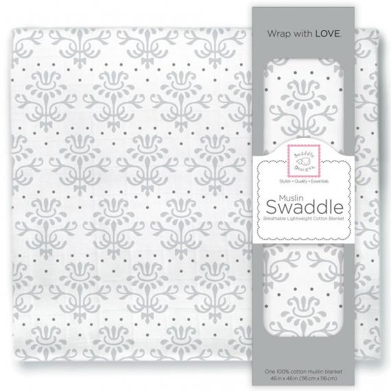 Пеленка муслиновая SwaddleDesigns Sterling Lillie