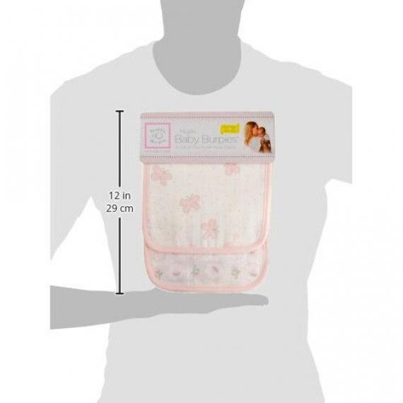 Полотенчики SwaddleDesigns Muslin Baby Burpie Pink Butterflies
