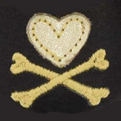 Детские мокасины Itzy Ritzy Hearts & Cross Bones (размер 12-18 мес.)
