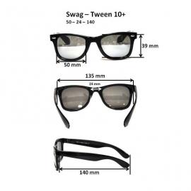 Очки для взрослых и подростков Swag черный/розовый