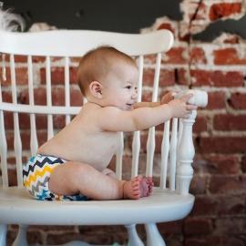 Обложка подгузник Newborn Aplix Cover Kanga Care Charlie
