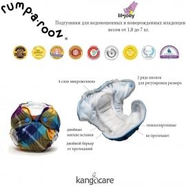 Многоразовый подгузник для новорожденного Lil Joey Kanga Care Preppy