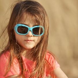Детские солнцезащитные очки Real Kids 7+ Breeze для девочек аквамарин/розовые