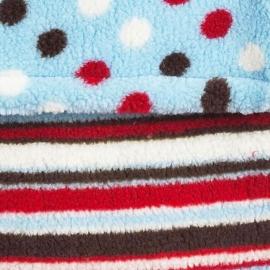 Теплый флисовый конверт Buggysnuggle Mad Hatter Spots & Stripes