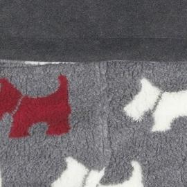 Теплый флисовый конверт Buggysnuggle Scottie Dog Charcoal