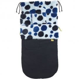 Водостойкий конверт Buggysnuggle WP Black/Navy blue Retro Spotty Fur