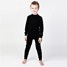 Леггинсы из шерсти мериноса черные (размер 7-8 лет)