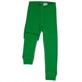 Леггинсы из шерсти мериноса зеленые (размер 7-8 лет)