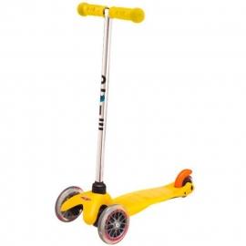 Самокат Mini Micro желтый для детей от 1,5 до 5 лет