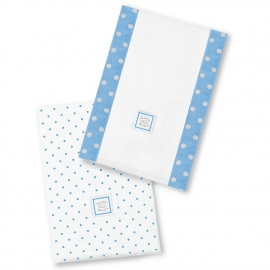 Полотенчики SwaddleDesign Baby Burpie Set Bright Blue Dot