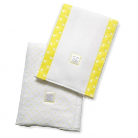 Полотенчики SwaddleDesign Baby Burpie Set Yellow Dot