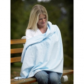 Фланелевая пеленка для новорожденного SwaddleDesigns Blue w/BR Dot