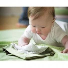Комфортер платочек обнимашка Baby Lovie SwaddleDesigns плюшевая нежность WH w/Yellow Satin