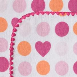 Фланелевая пеленка для новорожденного SwaddleDesigns Fuchsia Dot/Heart