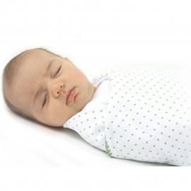 Фланелевая пеленка для новорожденного SwaddleDesigns Blue w/Barely IV