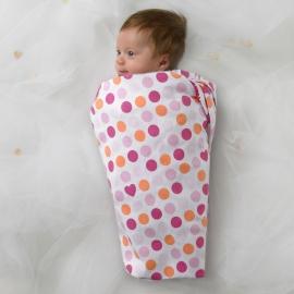 Фланелевая пеленка для новорожденного SwaddleDesigns Blue w/Blue Dot