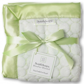 Плед детский SwaddleDesigns Stroller Blanket Kiwi Puff Circle