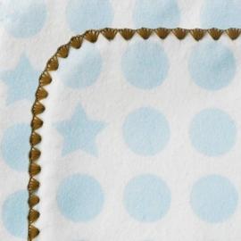Фланелевая пеленка Organic Blue Dot/Stars M