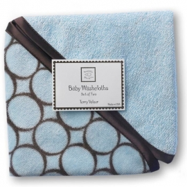 Детские мочалки SwaddleDesigns Washcloth set Blue w/BR Mod C