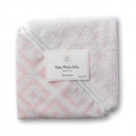 Детские мочалки SwaddleDesigns Washcloth set Pink w/BR Mod S