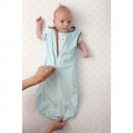 Спальный мешок для новорожденного SwaddleDesigns zzZipMe Sack 12-18M Flannel Lt PB w/PB Dots