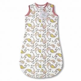 Спальный мешок для новорожденного SwaddleDesigns zzZipMe Sack 6-12M Flannel Pink Paisley