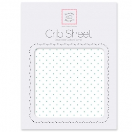 Простынь детская SwaddleDesigns Fitted Crib Sheet SeaCrystal Dot