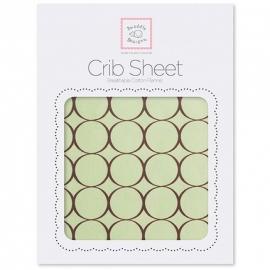 Простынь детская SwaddleDesigns Fitted Crib Sheet Lavender w/BR Mod C
