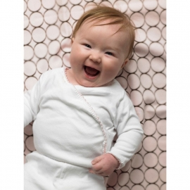 Простынь детская SwaddleDesigns Fitted Crib Sheet Lime w/BR Mod C