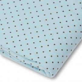 Детская простынь Fitted Crib Sheet Blue w/BR Dots