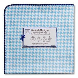 Фланелевая пеленка для новорожденного SwaddleDesigns Blue Puppytooth