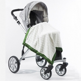 Плед детский на выписку Stroller Blanket IV w/Blue Puff C